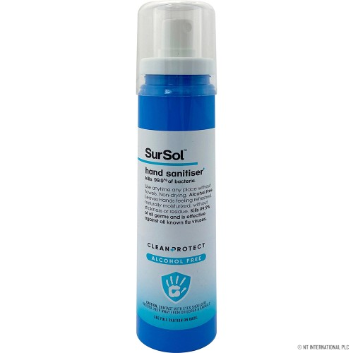 SURSOL INSTANT HAND SANITISER ALCOHOL FREE, ANTI-BACTERIAL ANTI-VIRUS SURFACE SPRAY 100ML
