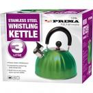 3L S/S Whistling KettleinColour Box (Green)