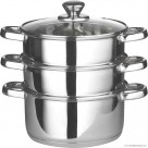 22cm Euro Steamer with Glass Lid with Capsulated Bottom