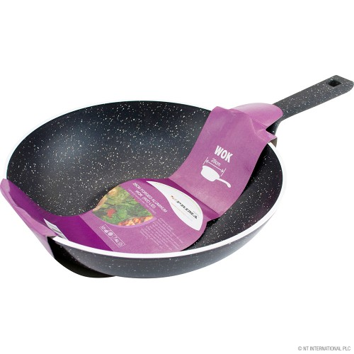 28cm Non Stick Forged Aluminium Wok with Lid