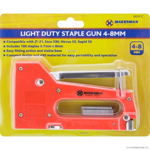 100pc 4-8mm Staple Gun
