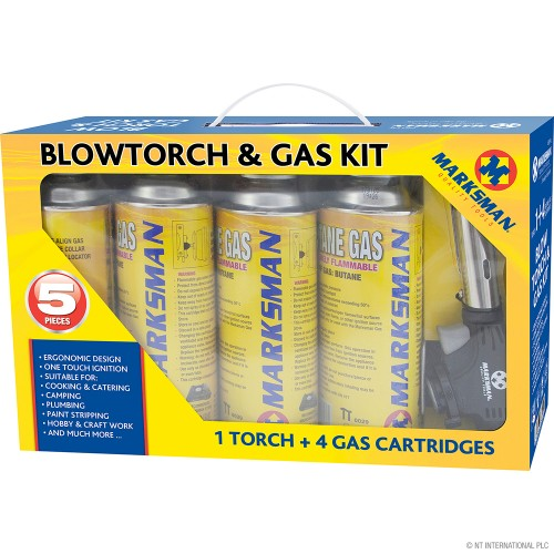 5pc Blow Torch Kit with Butane Gas