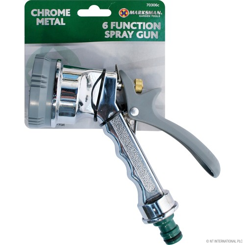 6 Function Chrome Metal Spray Gun
