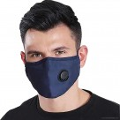 KN95 COTTON 1PC PROTECTIVE FACE MASK WITH EAR LOOPS AND VALVE