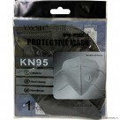 KN95 BLACK DISPOSABLE FACE MASK WITH VALVE