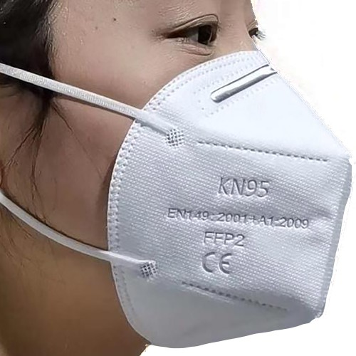 5 LAYER FILTRATION FACE MASK KN95-FFP2 WITH EAR LOOPS, ADJUSTABLE, HYPO-ALLERGENIC, DISPOSABLE